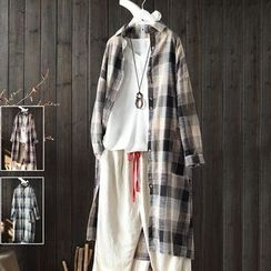 SASKIS - Plaid Long Shirt