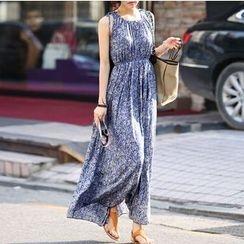 Fashion Street - Floral Print Strap Dress