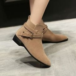 JY Shoes - Buckled Ankle Boots