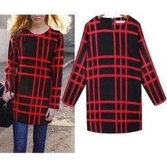 GRACI - Plaid Knit Dress