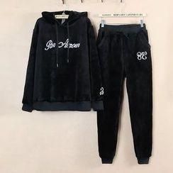 Nycto - 套裝: 字母連帽衫 + 運動褲