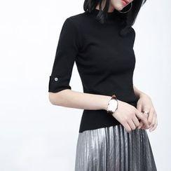 Sonne - 修身短袖針織衫