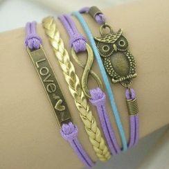 Seirios - Owl-Accent Multi-Chain Bracelet