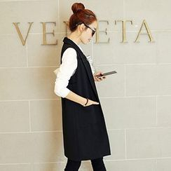 Romantica - Notched Lapel Long Vest