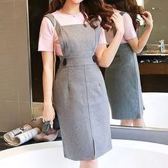 Romantica - Set: Short-Sleeve Knit Top + Jumper Skirt