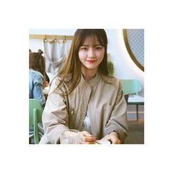 CHERRYKOKO - Stand-Collar Zip-Up Cotton Jacket