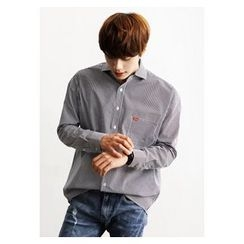 HOTBOOM - Pocket-Front Stripe Shirt
