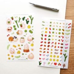 Full House - BOOKCODI - Set of 10: Transparent Diary Stickers