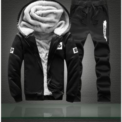 Izme - Set: Fleece Lined Hooded Zip Jacket + Sweatpants