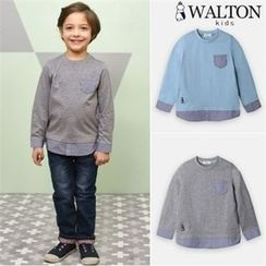 WALTON kids - Boys Pocket-Front Layered-Trim Top