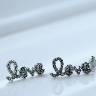 Cuteberry - Rhinestone Love Studs
