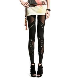 Lynley - Studded Sheer Leggings