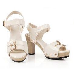 YIYA - Studded Chunky Heel Sandals