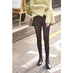 CHERRYKOKO - Dip-Back Zipped Shorts
