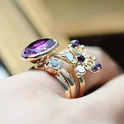 Cheermo - Gemstone Ring Set