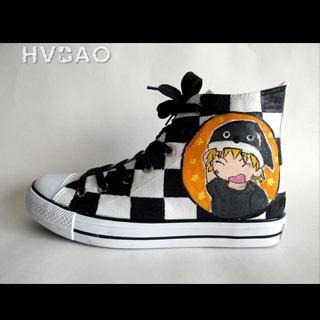 HVBAO - 'Cartoon Characters' High-Top Canvas Sneakers