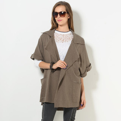 59 Seconds - Cuffed Batwing-Sleeve Open-Front Jacket