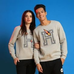 HappyTee - Lettering Couple Pullover