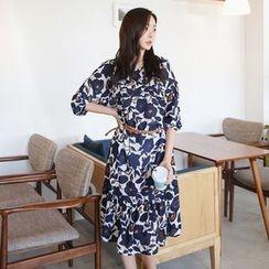 Envy Look - Floral Chiffon Midi Dress