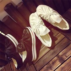 時尚麥樂 - 蝶結樂福鞋
