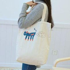 Aoba - Cat Printed Shopper Bag