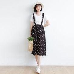 Forest Girl - Floral Midi Jumper Skirt
