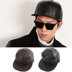 JBROS - Faux-Leather Baseball Cap