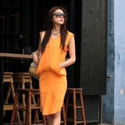 SO Central - V-Neck Draped Dress