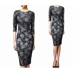 Forest Of Darama - Floral Sheath Dress