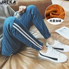 Jacka - Striped Washed Jeans