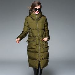 Y:Q - Hooded Padded Coat