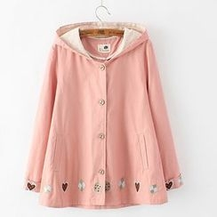 Citree - Embroidered Hooded Jacket