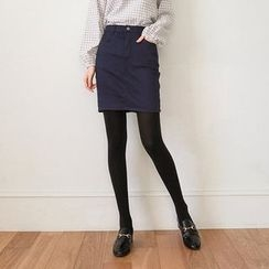 Seoul Fashion - Cotton Blend Pencil Skirt