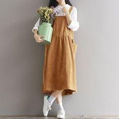 Queen Bee - 燈芯絨吊帶長裙