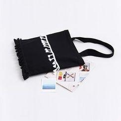 Eastin - 吊蘇邊帆布購物袋