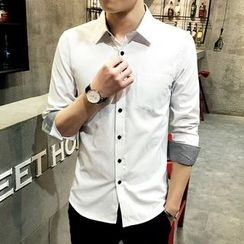 LIBIN - Plain Slim Fit Shirt