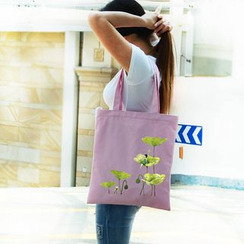 DUYU - 印花帆布購物包