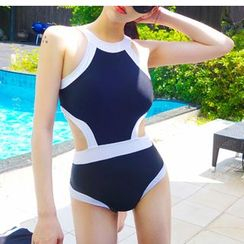 Jumei - Piper Halter Cutout Swimsuit