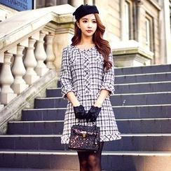 Dabuwawa - Wool Blend 3/4-Sleeve Dress