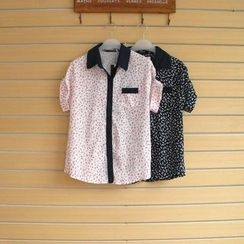 TWILOS - Short-Sleeve Printed Blouse