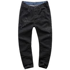Mannmix - Distressed Straight-Cut Jeans
