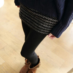 Tokyo Fashion - Inset Patterned Skirt Leggings