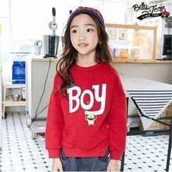 BILLY JEAN - Kids Slit-Hem Lettering Sweatshirt