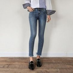 Seoul Fashion - Washed  Skinny Jeans