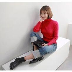 Miamasvin - Cuff-Hem Straight-Cut Jeans