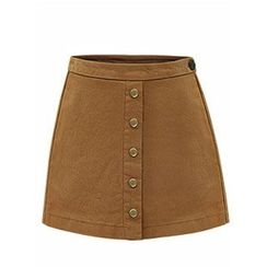 AGA - Buttoned A-Line Skirt