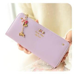 Momoi - Bow Accent Long Wallet