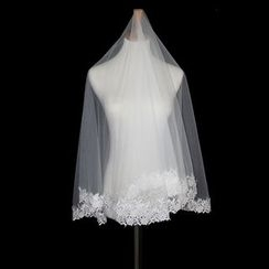 Sky n Sea - Crochet Hem Wedding Veil