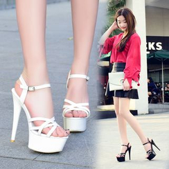 IYATO - Platform High-Heel Peep-Toe Sandals