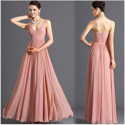 HOTCAKE - Strappy Pleated Evening Gown